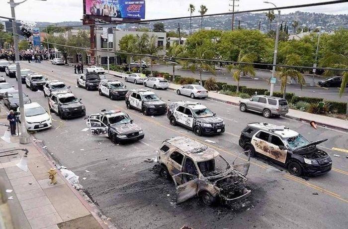 عکس شوکه کننده از اعتراضات امروز امریکا