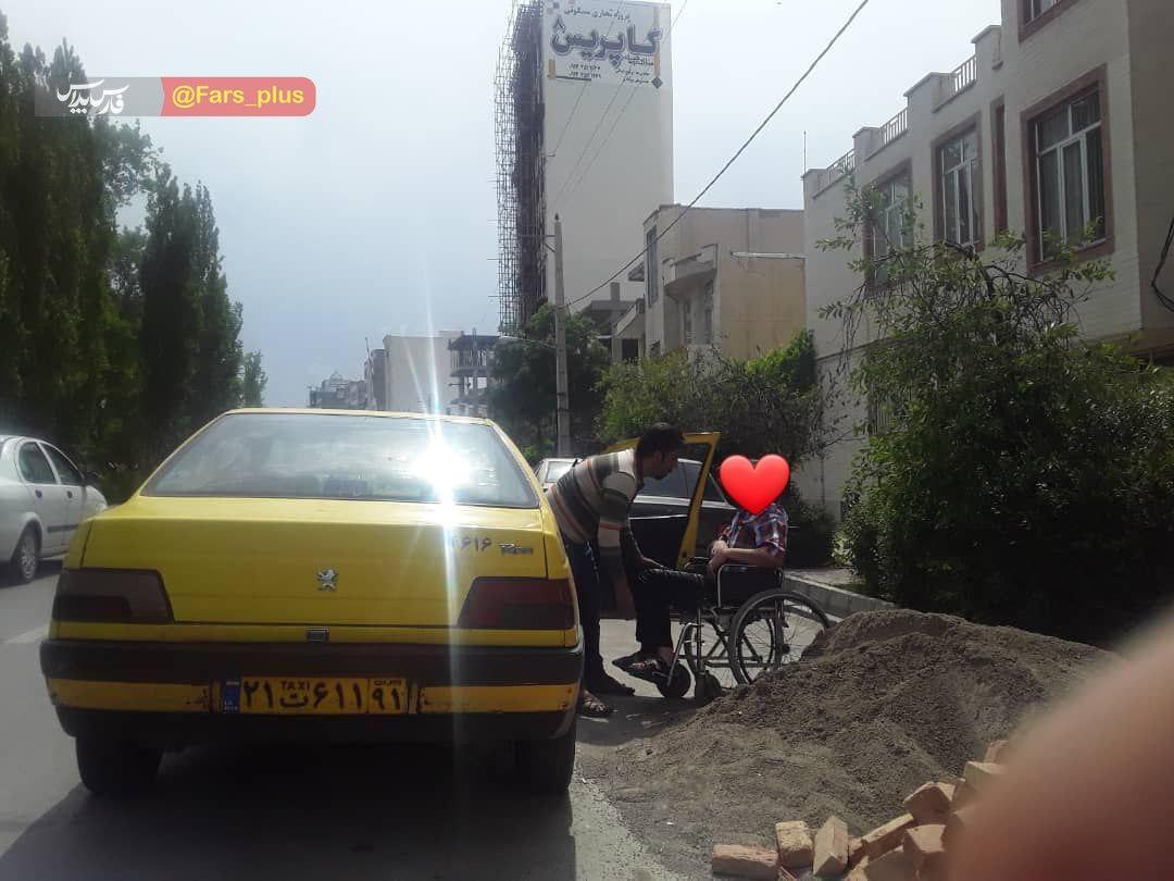 کار به یادماندنی راننده تاکسی اردبیلی +عکس
