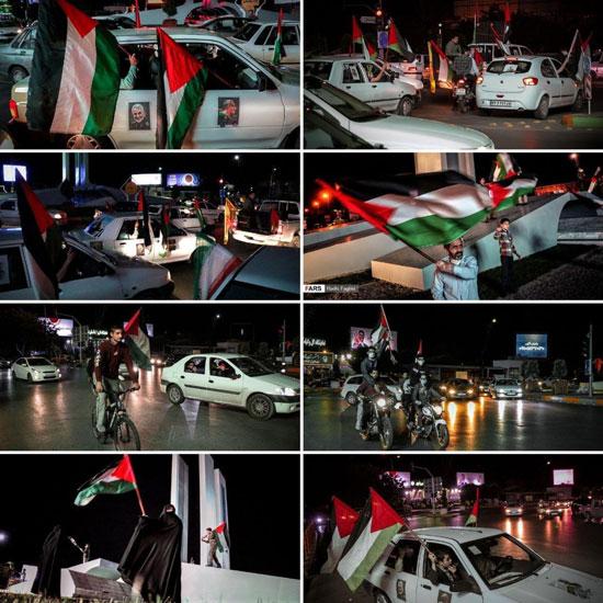 کاروان خودروییِ همبستگی با ملت فلسطین +عکس