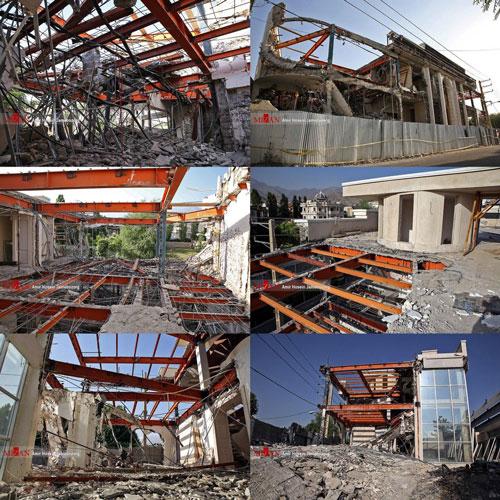 تصاویری از تخریب ویلای غیرمجاز شبنم نعمتزاده