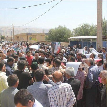تجمع در اعتراض به عدم تائید اعتبارنامه تاجگردون+عکس