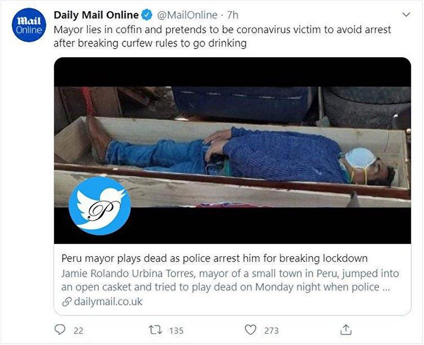 شهرداری که خود را به مردن زد+عکس