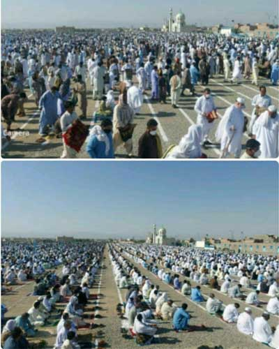 وضعیت عجیب برگزاری نماز عید فطر در ایرانشهر