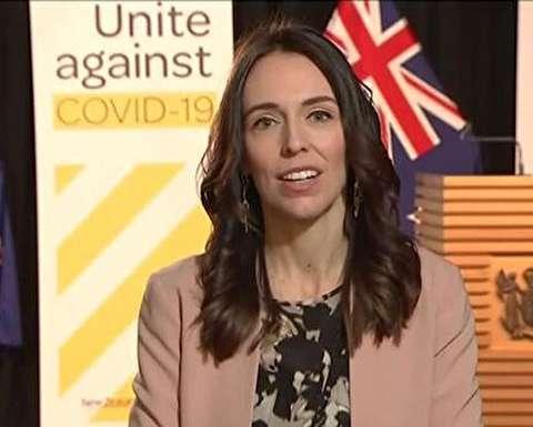 وقوع زمین لرزه هنگام مصاحبه نخست وزیر نیوزیلند