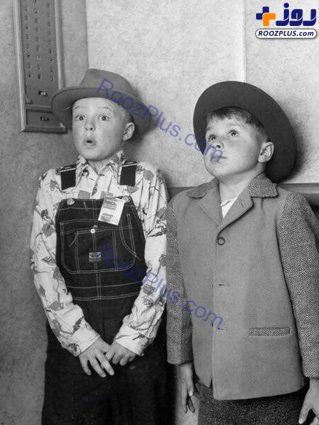 واکنش جالب دو پسر بچه در اولین تجربه آسانسور سواری+عکس