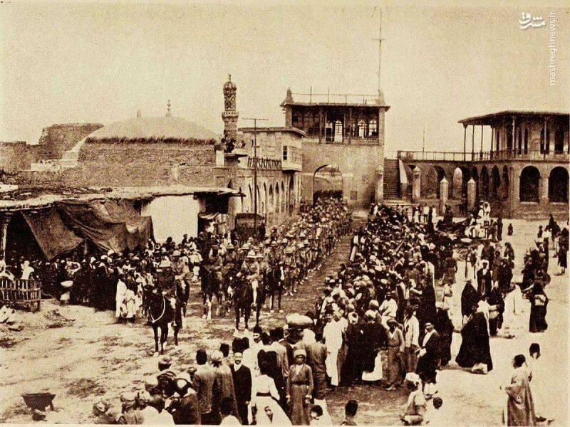 عکسی از تظاهرات عراقی ها در یک قرن پیش