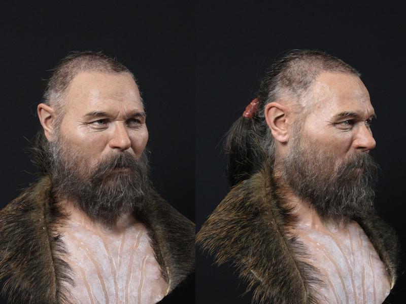 بازسازی چهره مرد ۸ هزار ساله چشمآبی و موقهوهای