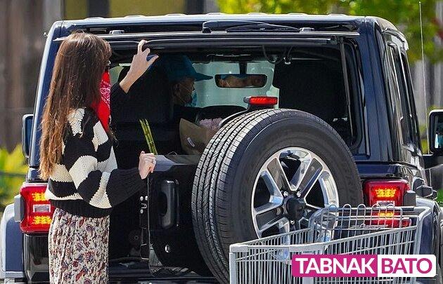 استایل جالب بازیگر هالیوودی در خرید روزانه