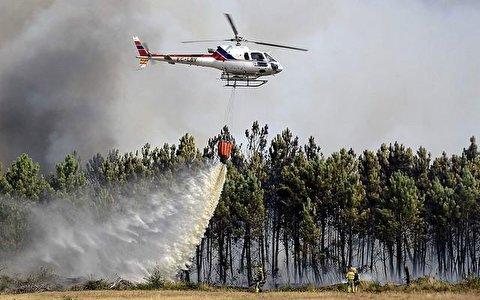 وقتی بالگرد اطفاء حریق گزارشگر را غافلگیر کرد