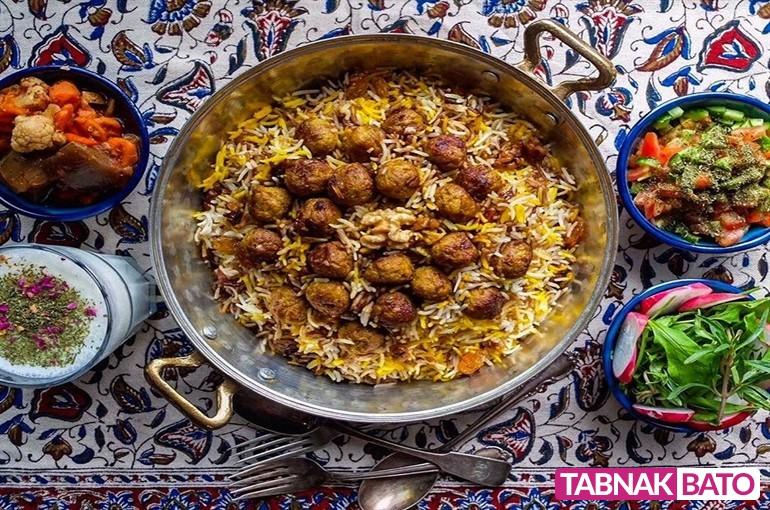 طرز تهیه قنبر پلو شیرازی