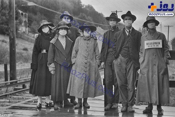 ۱۰۲ سال قبل؛ تبلیغات ماسک زدن برای پیشگیری از آنفلوانزا+عکس