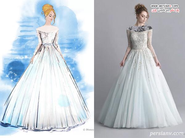 لباس عروس پرنسس های دیزنی در واقعیت از سیندرلا تا سفید برفی
