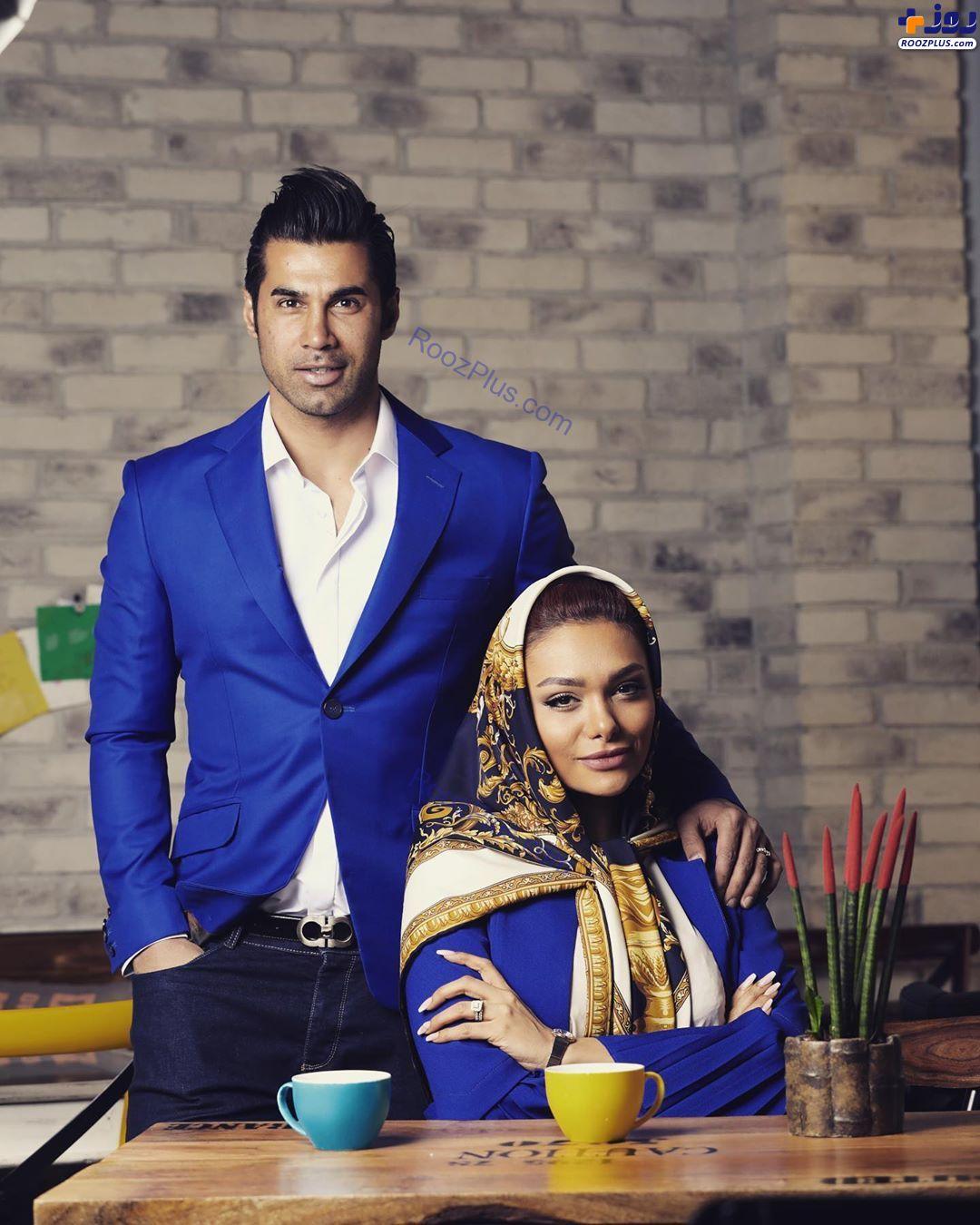 محسن فروزان در کنار همسرش+عکس