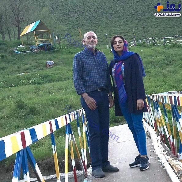 تیپ اسپرت یکتا ناصر در کنار پدرش + عکس