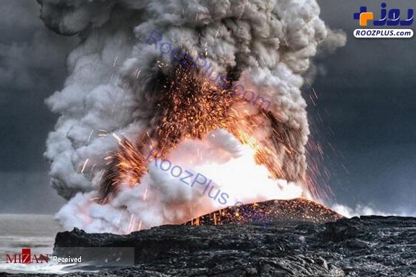 فوران آتشفشان های زیر آب +عکس