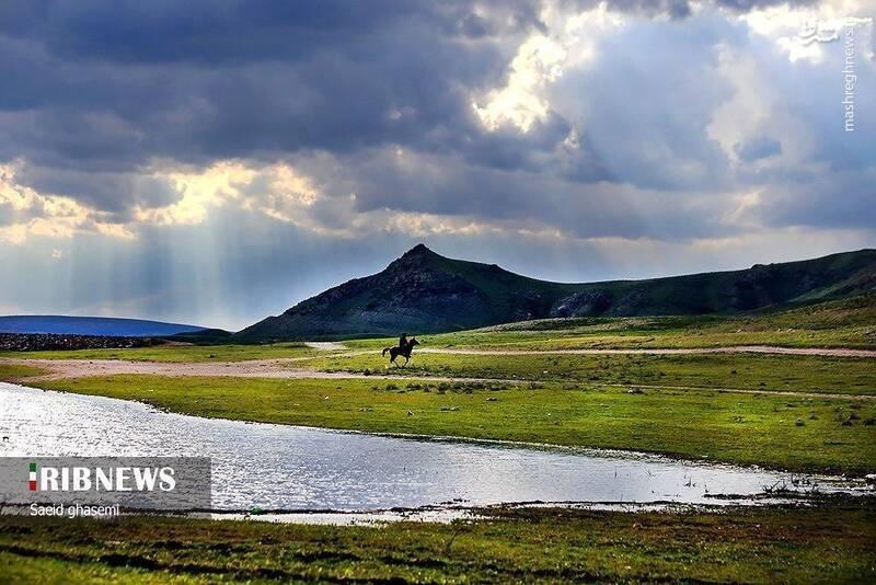 تصویری زیبا از سد خاکی اهر