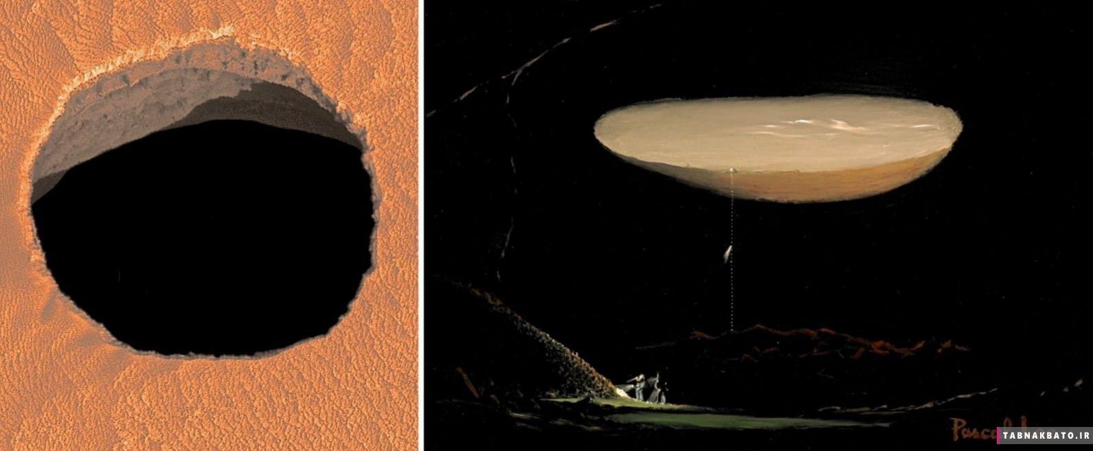 کشف تونلهای زیر سطح مریخ، کشف عجیب ناسا