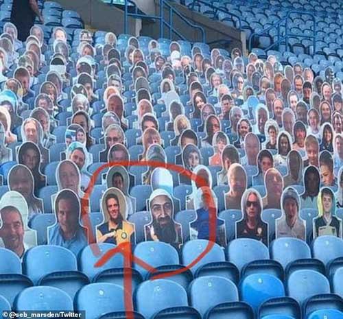 بنلادن در بین تماشاگران لیگ برتر انگلیس+عکس