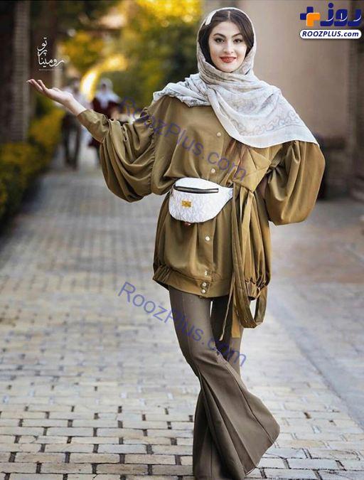 مریم مومن در استایل یک مدل لباس +عکس