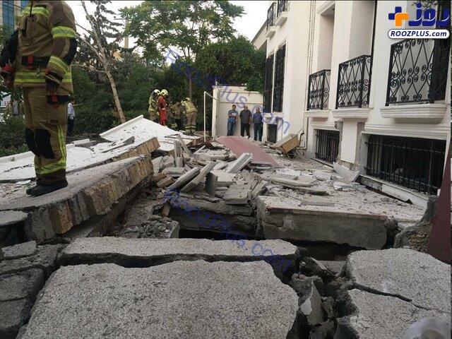 انفجار مهیب در ساختمان ویلایی در شهرک غرب + عکس