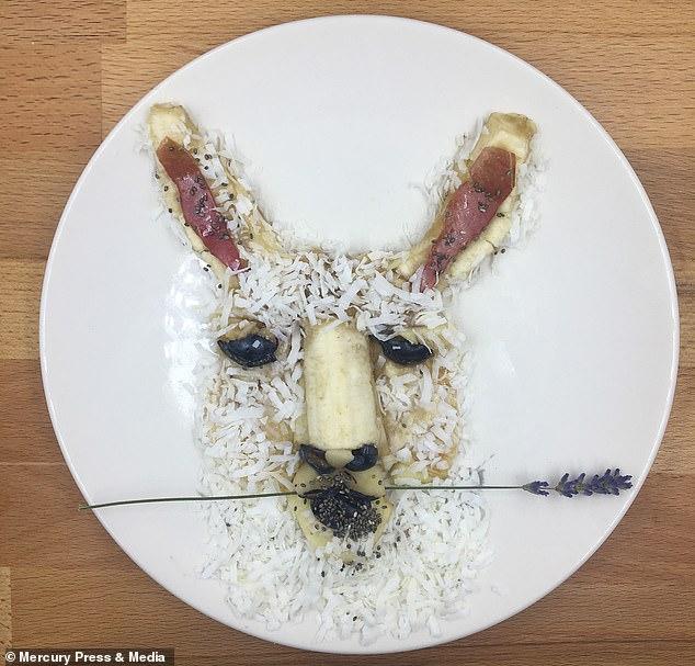 هنرنمایی مادر خلاق با بشقاب غذای پسرش
