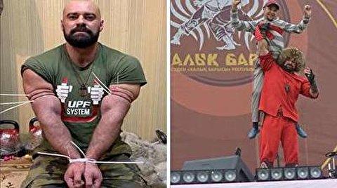 تواناییهای حیرت انگیز قدرتمندترین مرد قزاقستان