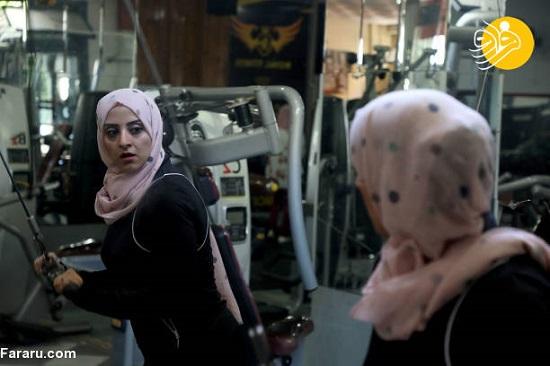 نخستین مربی زن رشته بدنسازی در غزه +عکس