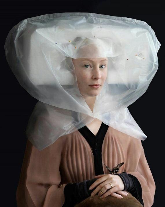 ابتکار جالب خانم هنرمند با مواد بازیافتی