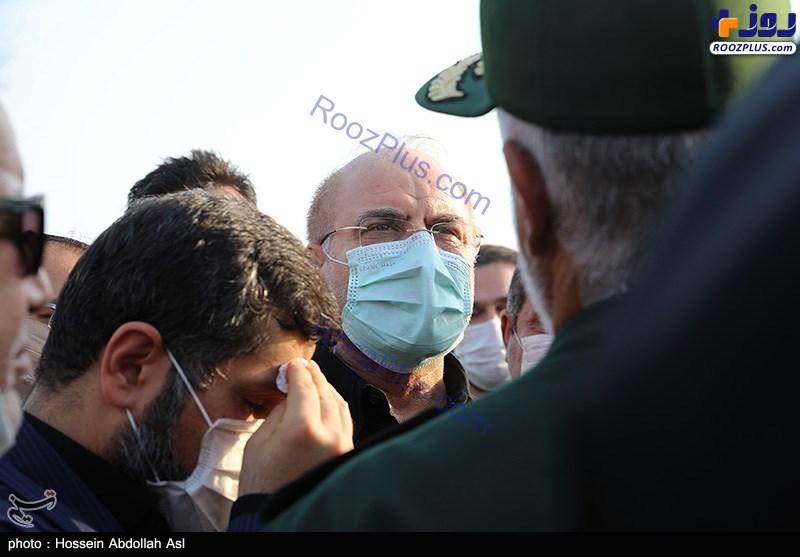 حال استاندار خوزستان هنگام بازدید قالیباف +عکس