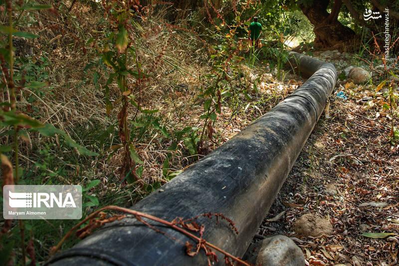 آلودگی نفتی منطقه سرخون چهارمحال و بختیاری +عکس