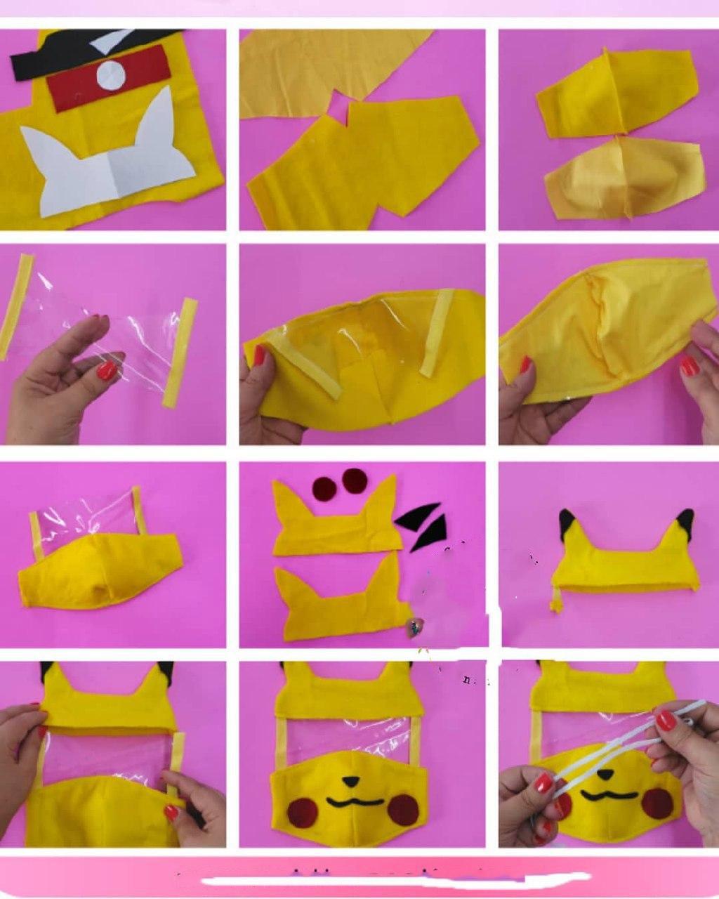 الگو و مراحل تهیه ماسک شیلد دار هالک، بتمن، پوکمون و گربه