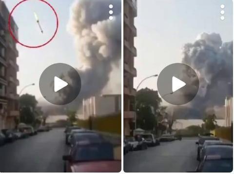 موشک ادعایی در انفجار بیروت از کجا آمد؟ +عکس