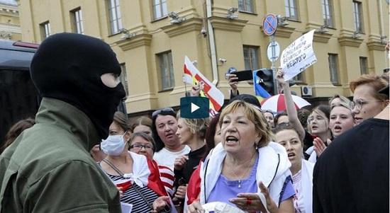 تظاهرات هزاران زن در بلاروس