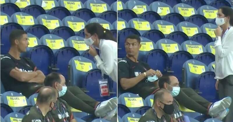 واکنش عجیب فوتبالیست معروف به تذکر یک زن+عکس