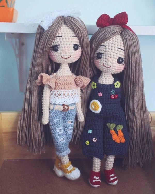 عروسک های بافتنی فانتزی با دو میل و قلاب