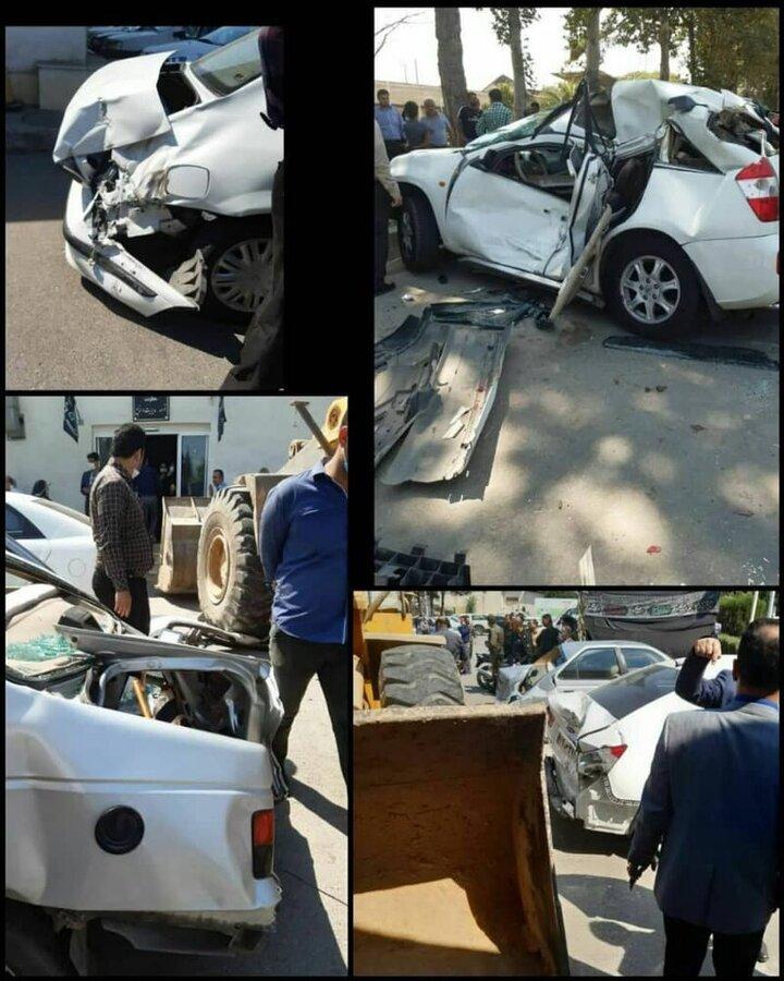 دستگیری نوجوانی که با لودرِ پدر از روی خودروها رد شد +عکس