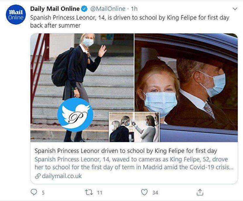 کار متفاوت پادشاه اسپانیا در روز اول بازگشایی مدارس سوژه شد +عکس