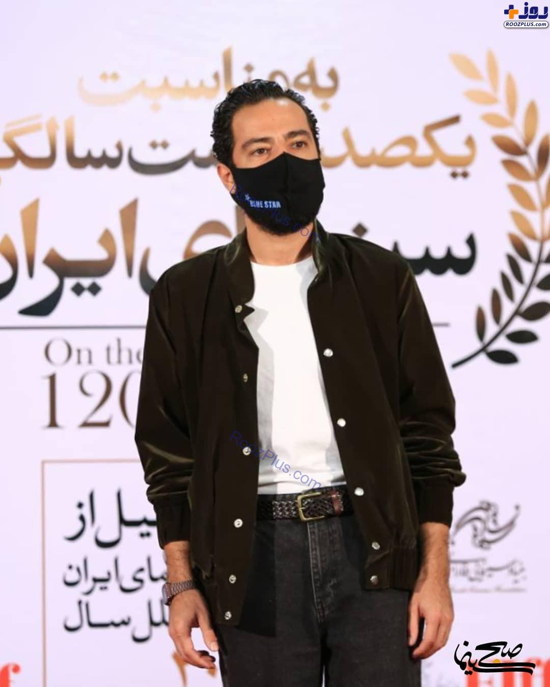 تیپ نوید محمدزاده در جشن 120 سالگی سینمای ایران