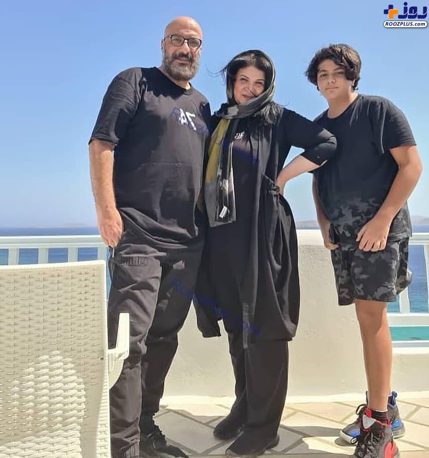 امیر جعفری و همسر و پسرش در یونان+عکس