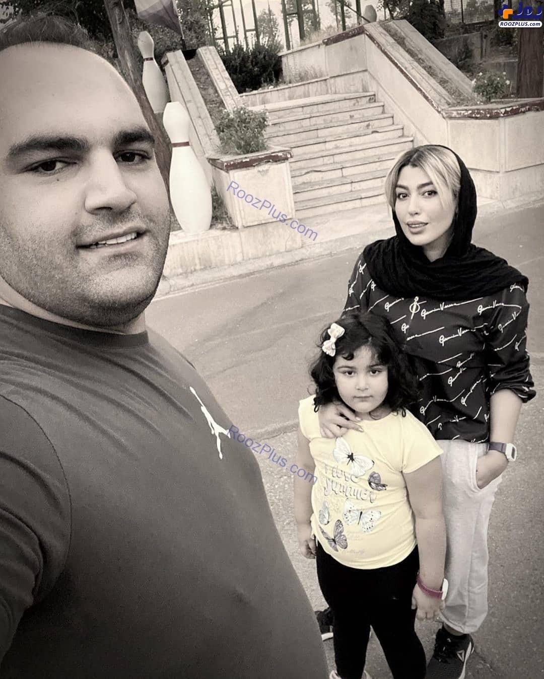بهداد سلیمی درکنار همسرش و دخترش+عکس