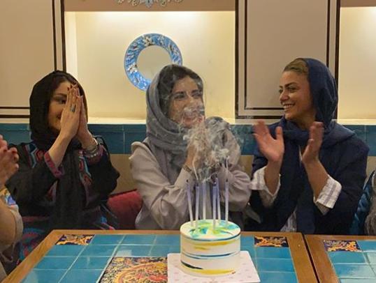 جشن تولد لیندا کیانی درکنار شبنم فرشادجو +عکس