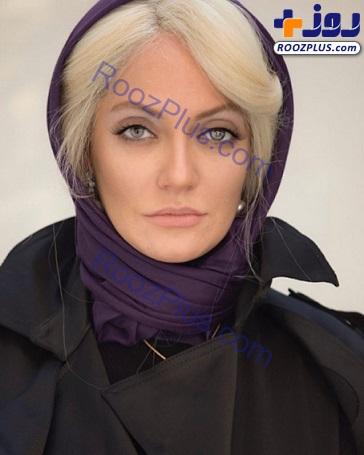 ظاهر جدید مهناز افشار با موهای بور و چشم های آبی+عکس