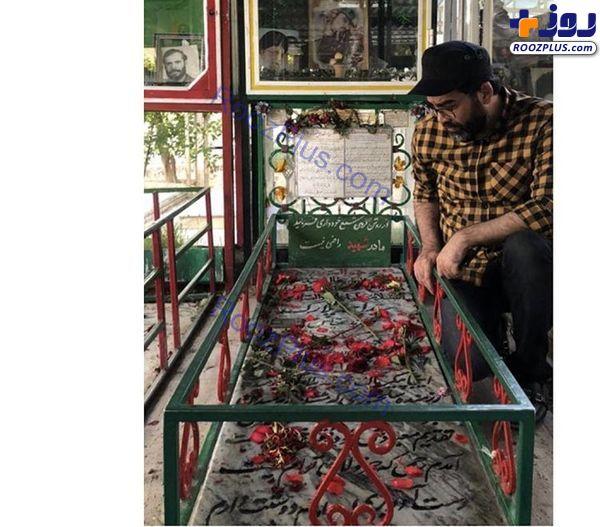 فرزاد حسنی در گلزار شهدا+عکس