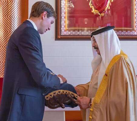 کوشنر به پادشاه بحرین تورات هدیه داد+عکس