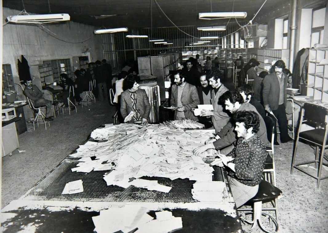 تصویر زیرخاکی از کارمندان شبکه پستی کشور