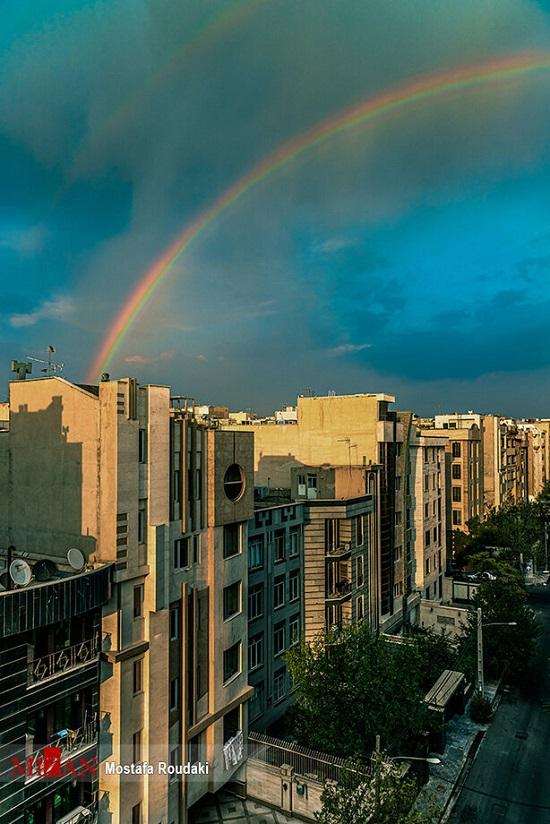 آسمان تهران، هفت رنگ شد+عکس