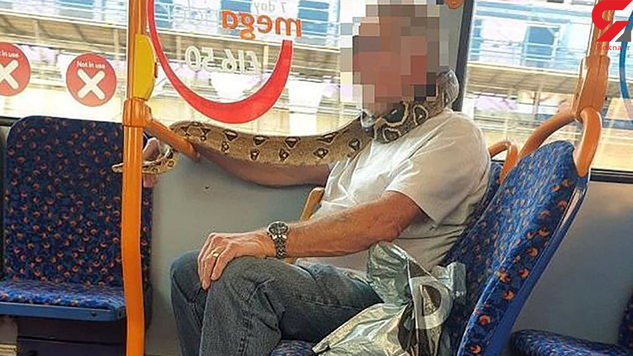 ماسک عجیب این مرد در اتوبوس مسافران را شوکه کرد +عکس