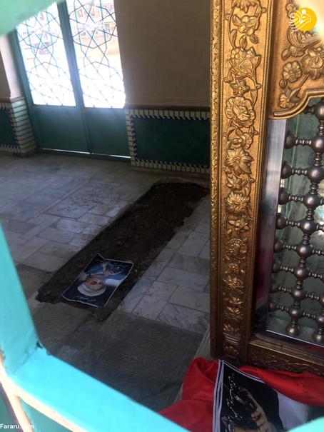 محل دفن پیکر آیت الله صانعی +عکس