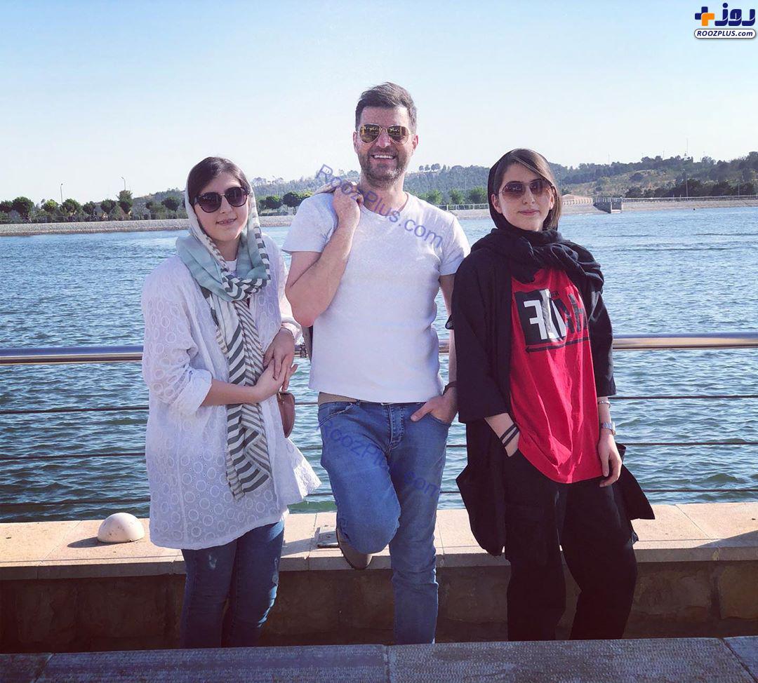 مجری تلویزیون در کنار دخترانش+عکس