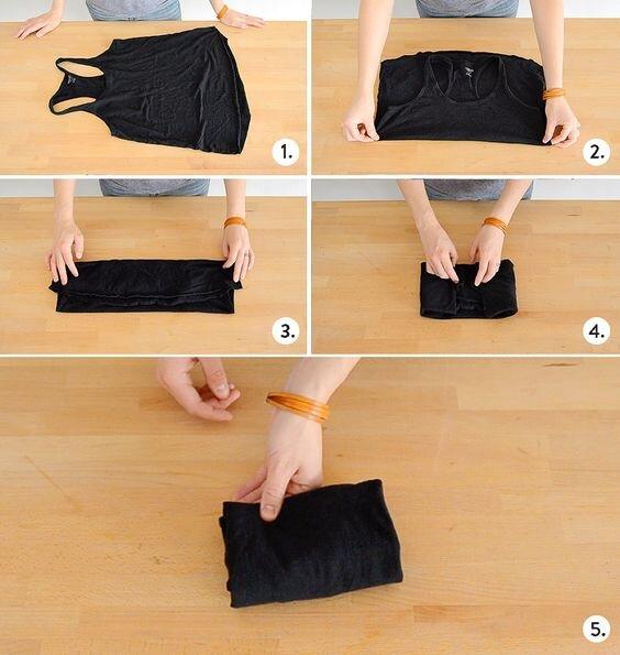 ۸ روش تا کردن لباس برای اینکه کمد مرتبی داشته باشید